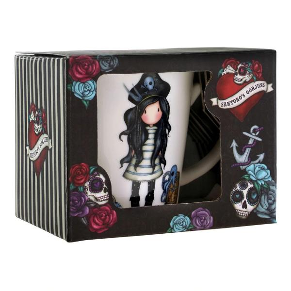 Perfect for a cosy cuppa this mug is made from bone china and features original Black Pearl artwork Each mug comes packaged in a beautiful gift boxApprox Measurements125 x 96 x