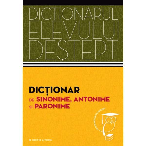 Adresându-se mai cu seam&259; elevilor de gimnaziu &537;i de liceu - dar nu numai lor - acest dic&539;ionar de sinonime antonime &537;i paronime cuprinde peste 16 500 de cuvinte-titlu din toate palierele limbii române Formatul prietenos &537;i probitatea &537;tiin&539;ific&259; îl recomand&259; drept un instrument de lucru util &537;i eficient