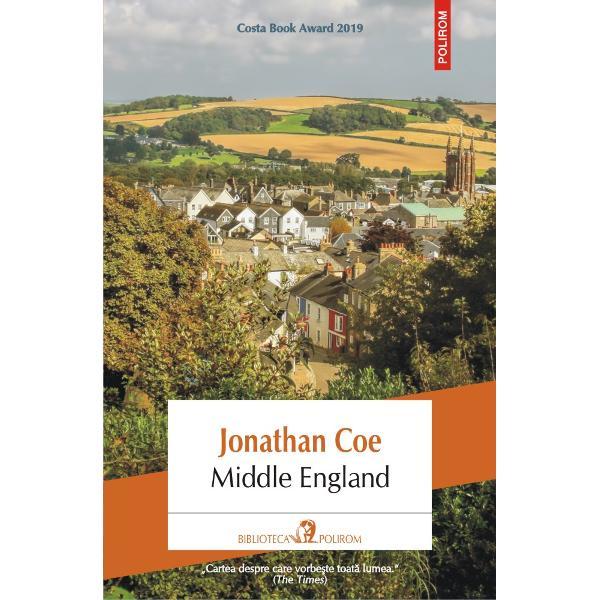 """Costa Book Award 2019""""Cartea despre care vorbe&351;te toat&259; lumea"""" The TimesTraducere din limba englez&259; &537;i note de Radu ParaschivescuMiddle Englandeste o analiz&259; lucid&259; &351;i satiric&259; a lumii britanice contemporane v&259;zute prin ochii unui grup eterogen de personaje Ian &351;i Sophie proasp&259;t c&259;s&259;tori&355;i care au p&259;reri diferite"""