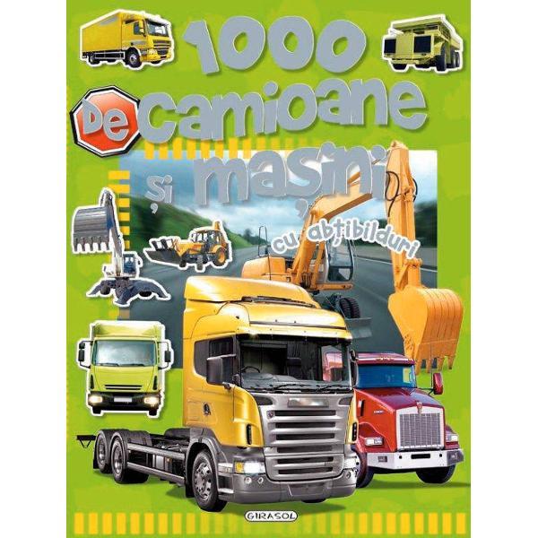 Iata in sfarsit o carte plina de camioane si masini in care sa citesti sa lipesti sa numeri sa inveti dar mai ales sa te distrezi In interior vei descoperi nenumarate exemple care te ajuta sa intelegi cum sunt alcatuite cum functioneaza si la ce tipuri de lucrari sunt folosite diferite masini si camioaneVolumul include zeci de abtibilduri care completeaza fiecare paginabr