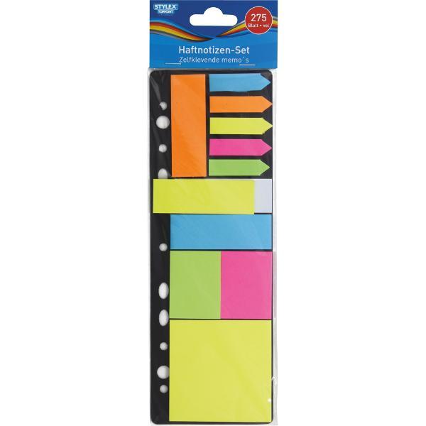 Set sticky notesuri autoadezive-275 bucati -material hârtie -11 tipuri diferite x 25 coli