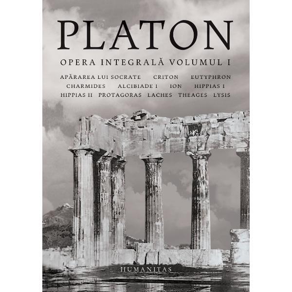 "Cuprins Ap&259;rarea lui Socrate Criton Eutyphron Charmides Alcibiade I Ion Hippias I Hippias II Protagoras Laches Theages Lysis""Tradi&355;ia filozofic&259; european&259; e doar o lung&259; serie de note de subsol la Platon"" — ALFRED NORTH WHITEHEADPlaton –Opera integral&259;este un proiect sus&355;inut de Funda&355;ia ""Republica Literelor"" &537;i Editura"