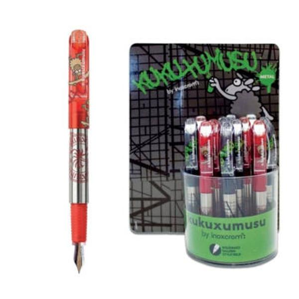 Stilou Inoxcrom metalic Kukuxumusu corp din metal peni&539;&259; iridium clem&259; plastic; cu patron de cerneal&259; standard sau lung
