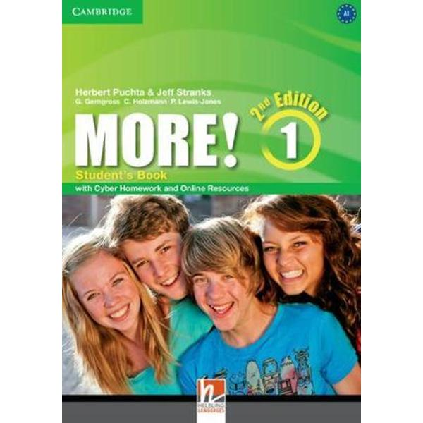 MORE Second edition is a four-level English course from recognised authors for lower secondary students This new edition is bursting with added features and an even more user-friendly design to capture young teenagers imagination and help improve their learning The course encourages reading for pleasure with new adventure photostories and engaging texts Both CLIL sections now an integral part of each lesson and mini-projects inspire teenagers natural curiosity In addition to