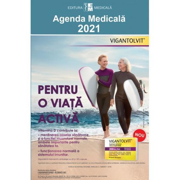 Ca în fiecare an apari&539;ia Agendei medicale este un eveniment editorial mult a&537;teptat Ultima edi&539;ie 2021 îmbun&259;t&259;&355;it&259; &537;i ad&259;ugit&259; cuprinde reactualiz&259;ri privitoare la medicamentele intrate în uz în România înregistrate &537;i eviden&355;iate cu denumirile comerciale DC precum &351;i monografiile aferente la denumirea comun&259; interna&539;ional&259; corespunz&259;toare DCI