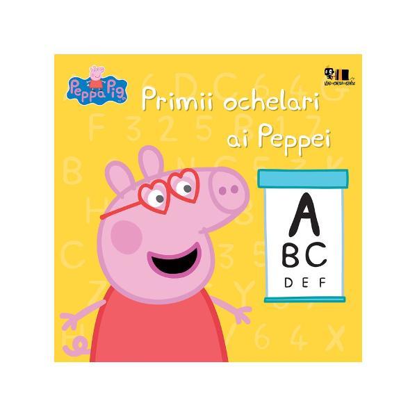 Carte bazat&259; pe serialul TV Peppa PigPeppa e sigur&259; c&259; are nevoie de ochelari la fel ca prietenul ei de joac&259; Poneiul Pedro A&537;a c&259; m&259;mica Purcelu&537; o duce la oftalmolog Oare ce fel de ochelari va purta Peppa