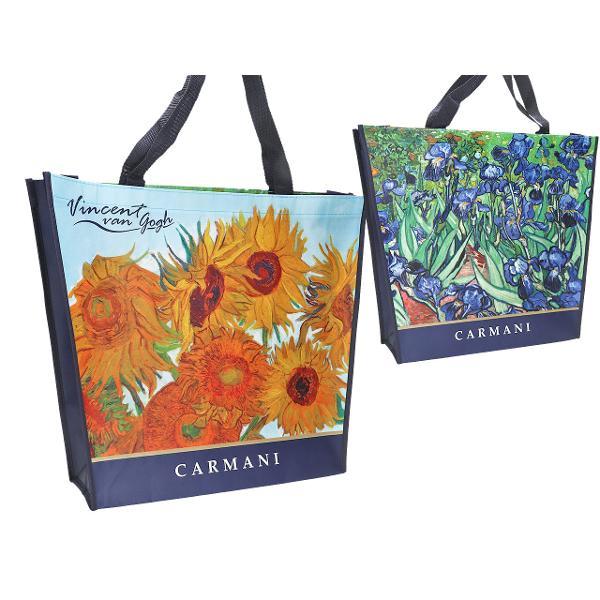 Sacosa Van Gogh Iris si Sunflowers 46x11x38cm 0219004