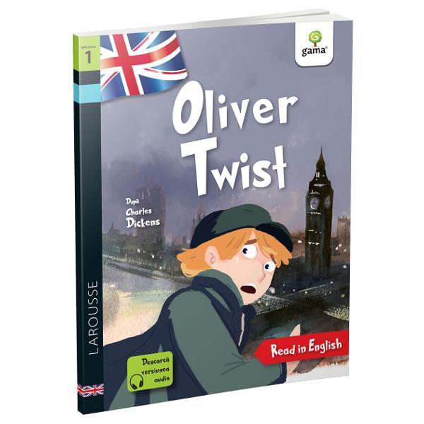 Î&539;i dore&537;ti s&259; cite&537;ti în limba englez&259;Oliver Twist Cu Larousse acum este simplu fiindc&259; aitext adaptat &537;i aprobat de cadre didacticeilustra&539;ii care te ajut&259; s&259; urm&259;re&537;ti ac&539;iuneaformat potrivit &537;i pentru copiii cu dificult&259;&539;i de citire sau dislexiedic&539;ionar englez-român la sfâr&537;itul fiec&259;rui volum