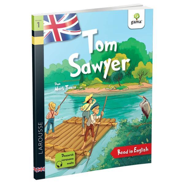 Î&539;i dore&537;ti s&259; cite&537;ti în limba englez&259;Tom Sawyer Cu Larousse acum este simplu fiindc&259; aitext adaptat &537;i aprobat de cadre didacticeilustra&539;ii care te ajut&259; s&259; urm&259;re&537;ti ac&539;iuneaformat potrivit &537;i pentru copiii cu dificult&259;&539;i de citire sau dislexiedic&539;ionar englez-român la sfâr&537;itul fiec&259;rui volum ca
