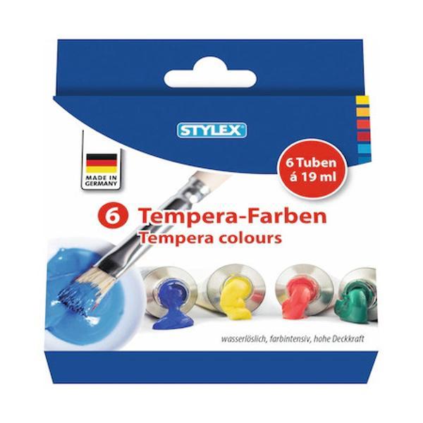 Tempera Stylex 6 culoriContinut 6 tuburi x19 ml