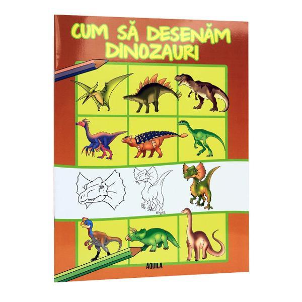 Aceast&259; carte le arat&259; copiilor cum s&259; deseneze dinozauri doar cu ajutorului creionului Cu ajutorul acestei c&259;r&355;i pân&259; &351;i cei mai pu&355;in talenta&355;i la desen se pot descurca destul de u&351;or