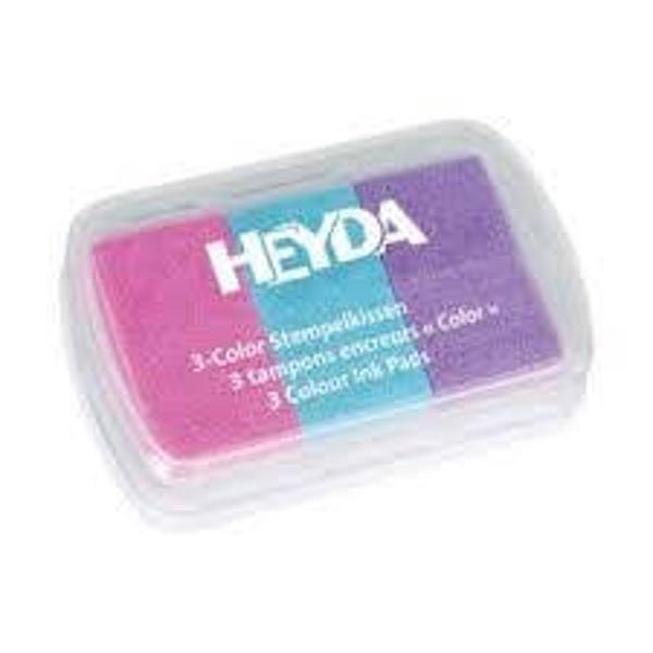 Tusiera cu 3 culori-rozbleumovMod de prezentare caseta din plastic transparent Nu este recomandat copiilor sub 3 ani Produs de HEYDA-Germania