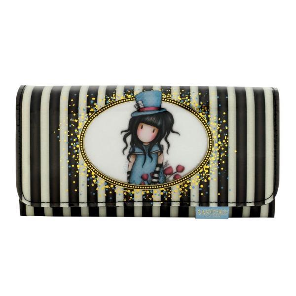 Portofel lung Gorjuss The HatterUn portofel incantator pentru a-ti tine bancnotele monedele cardurile sau obiecte micute&160; Un accesoriu elegant care ne prezinta frumoasa creatie The Hatter Dimensiuni 10x19x3 cm