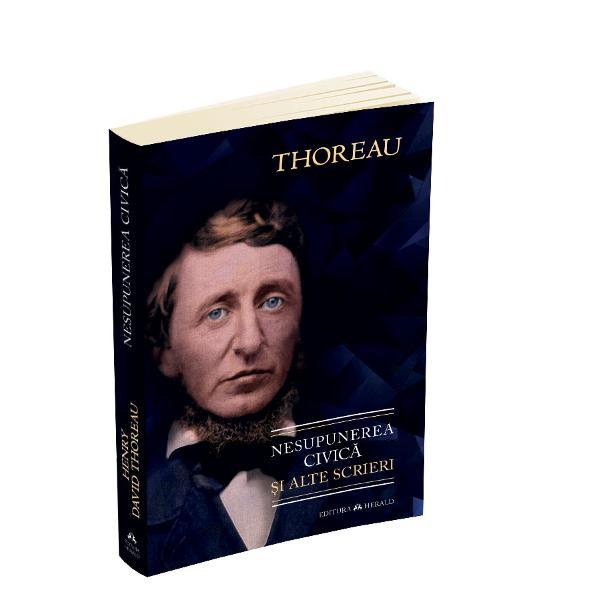 """Volumul de fata aduna laolalta cateva dintre scrierile de mici dimensiuni ale lui Henry David Thoreau care au avut un impact foarte important atat in istoria Statelor Unite ale Americii cat si peste tot in lume Cel mai renumit eseu al autorului este fara indoiala Nesupunerea civica eseu care a fost publicat pentru prima oara in 1849 Aflam ca cea mai buna guvernare este """"cea care guverneaza cel mai putin"""" ba chiar """"deloc"""" Deoarece votul natiunii nu are cum sa"""