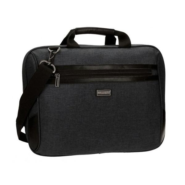Geanta pentru laptop 41 cm Movom Padding negru - compartiment special pentru laptop dimensiune 41x32x8 cm culoare negru bareta ajustabila lungimea baretei aproximativ 90 cm 2 compartimente material poliester  piele ecologica 1 buzunar frontal maner superior