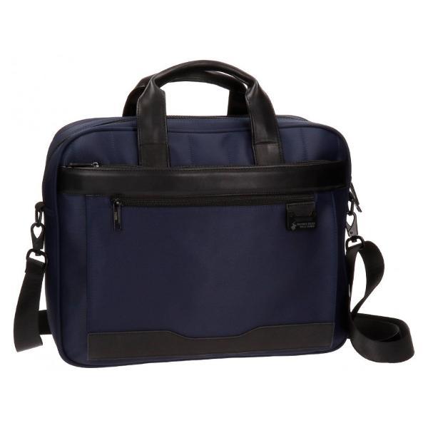 Geanta pentru laptop 40 cm 2 comp BHPC Bolt albastru br