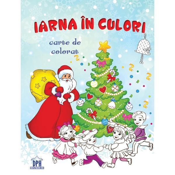 Carte de colorat de iarna pentru copii