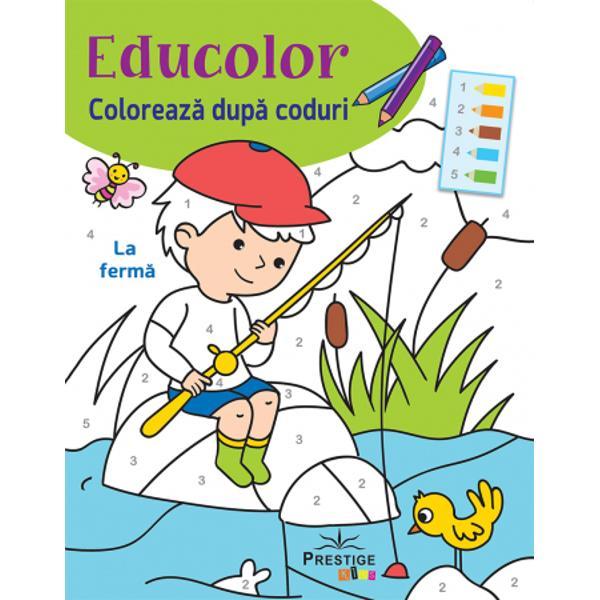 Cu aceasta colectie de colorat dupa coduri invatatul devine o joaca de copii Harta codurilor din fiecare ilustratir ii arata copilului ce culoare sa foloseasca si unde anumeIlustratii de Silviana BenaghiConcept si design grafic de Cecile Marbehant