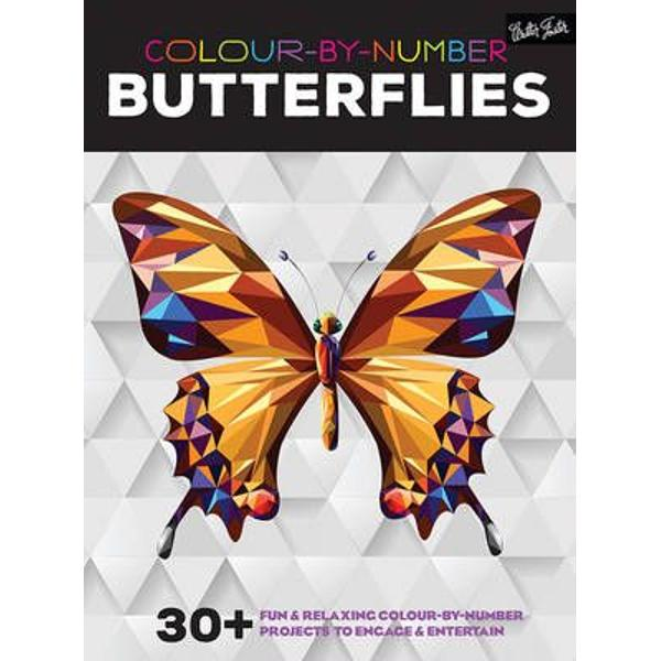 Colour-By-Number Butterflies 30 Fun and Relaxing Colour-by-Number Projects to Engage and Entertain