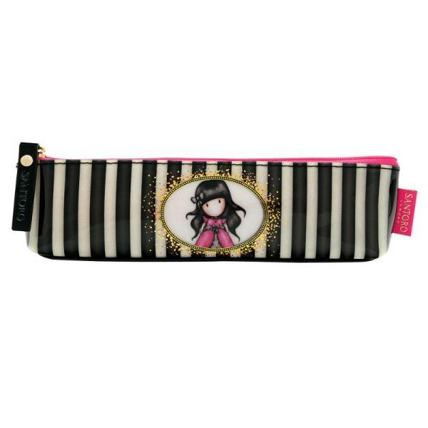 Gorjuss Stripes Geanta accesorii subtire - LadybirdGeanta pentru accesorii poate fi un portofel practic si frumos sau un penar incapator dar si o geanta foarte utila in calatorii&160;Dimensiuni&160;18x6x3 cm