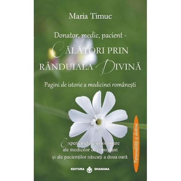 """Cartea aceasta este un fel in care ne plecam in fata tuturor celor care sunt in aceasta """"randuiala a vietii lumina calauza si """"maini prin care Dumnezeu lucreaza salvand vietile altora Este un omagiu pe care il aducem in mod special - profesorului Irinel Popescu realizatorul primului transplant hepatic din Romania in urma cu 20 de ani si creatorului scolii de hepatologie modema in Romania De asemenea este un omagiu pentru toti cei care apar aici si au pus"""