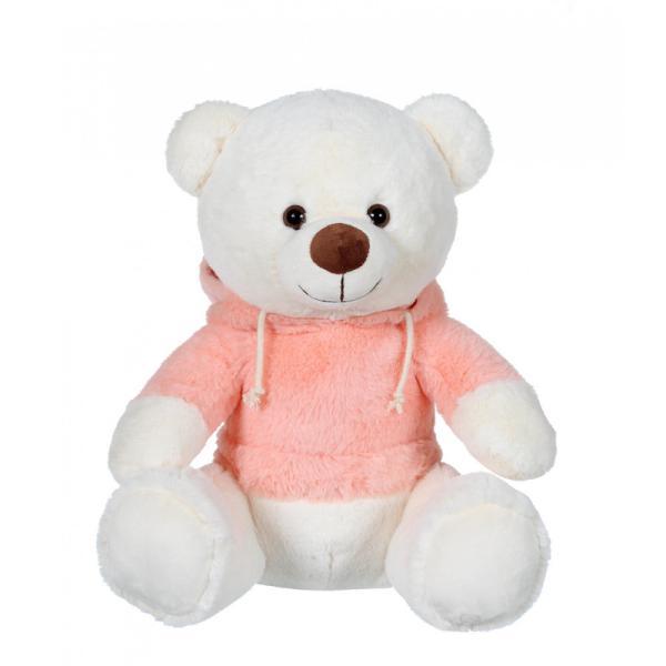 Jucarie din plus Ursulet cu hanoracJucarie din plus ursulet sau catelus cu hanoracMicul ursulet din plus cu hanoracface parte dintr-o familie draguta de ursi si catelusi cu hanorace colorateAcest plus de 22 cm cu