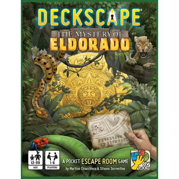 Deckscape The Mystery of Eldorado is the fourth title in a series of cooperative games inspired by real escape rooms in which a group of people is trapped inside a room full of puzzles and odd items The goal of the game is to solve puzzles understand the plot of the story and make intelligent use of the items provided in order to exit from the room as quickly as possibleIn Deckscape The Mystery of Eldorado you are a group of explorers who have long sought the legendary