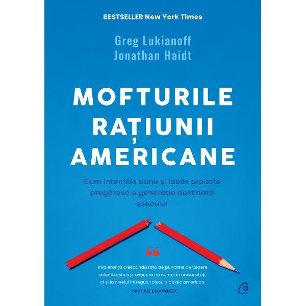 Aceasta este o carte despre &238;n&539;elepciune &537;i despre opusul ei Totodat&259; este o carte despre educa&539;ie Greg Lukianoff &537;i Jonathan Haidt se apleac&259; asupra comportamentelor sociale recente din a c&259;ror &238;nt&226;lnire au rezultat erori ad&226;nc &238;nr&259;d&259;cinate &238;n g&226;ndirea tinerilor americani cu un mare poten&539;ial de a deveni trenduri intelectuale globaleApari&539;ia acestor erori este cercetat&259; &238;n