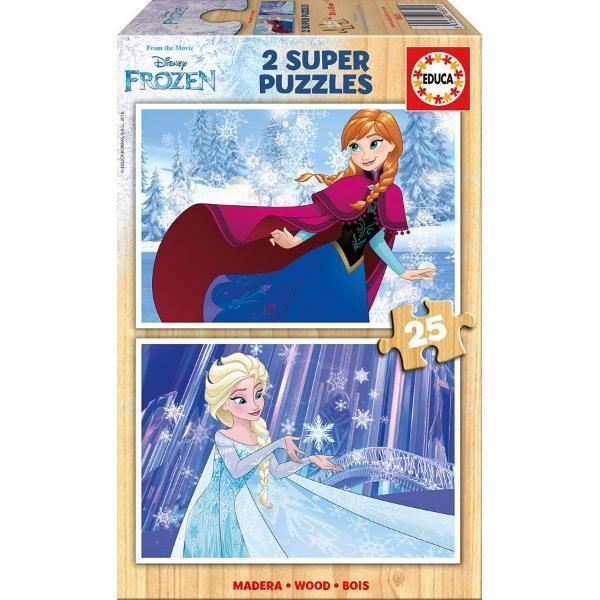 Num&259;r piese2x25 bucVârsta3-5 aniDimensiuni puzzle asamblat26 x 18 cmLicen&355;&259; Disney Frozen