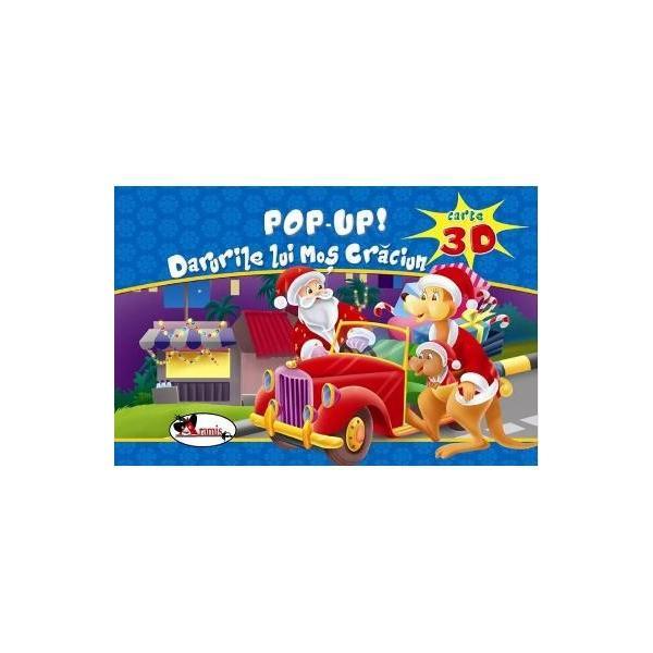 Carte pop-up cu efect 3D care ii va incanta pe micuti cu o scurta dar amuzanta poveste despre Mos Craciun; dar mai ales prin desenele pop-up viu colorate care ii surprind si ii bucura pe copii la fiecare pagina