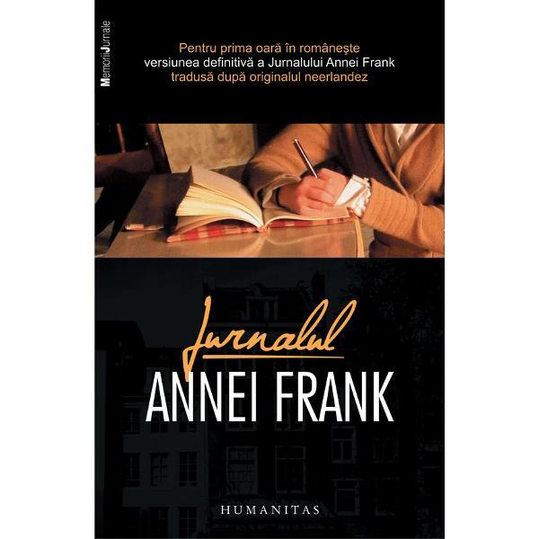 """Versiune definitiv&259; editat&259; de Mirjam Pressler &537;i autorizat&259; de Anne Frank FondsTraducere &537;i note de Gheorghe NicolaescuPentru prima oar&259; în române&351;te versiunea definitiv&259; a Jurnalului tradus&259; dup&259; originalul neerlandez""""Era o tân&259;r&259; scriitoare minunat&259; Era cineva la cei treisprezece ani ai ei Parc&259; ai vedea la vitez&259; m&259;rit&259;"""