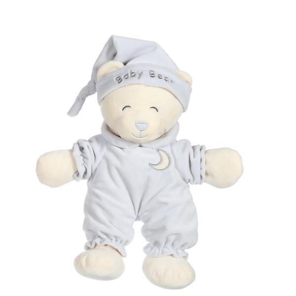 Un ursulet teribil de somnoros imbracat intr-o pijama frumoasa gata sa mearga la culcare Aceasta jucarie moale de 24 cm pufoasa si foarte moale aduce tandrete copilului tau atunci cand are nevoie de imbratisari peste noapteAtentie este o jucarie lipicioasa imediat se lipeste de sufletul tau Jucaria din plus Baby Ursulet este dedicata celor care adora imbratisarileDimensiuni 24 cm