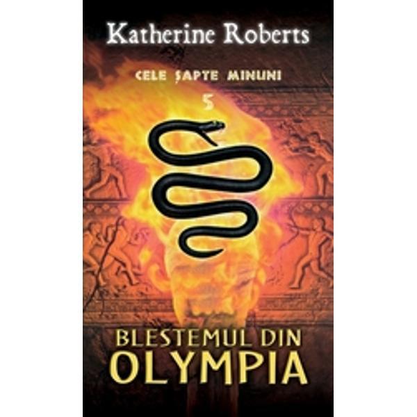Statuia lui Zeus din Olympia reprezinta culisele unei noi aventuri palpitante Sosi era disperata si nu stia ce ar fi trebuit sa faca Ideea ca ar fi putut sa faca o inselatorie la Jocurile Olimpice fusese nebuneascaFratele ei Theoron se antrena pentru jocuri insa se accidentase si doar Sosi putea sa-l mai ajute dar sa-i ia locul fratelui ei se dovedeste a fi mult mai complicat decat ar fi crezut la inceput Si oare de ce sunt atat de importante focul sacru si statuia lui Zeus Vrajitorie