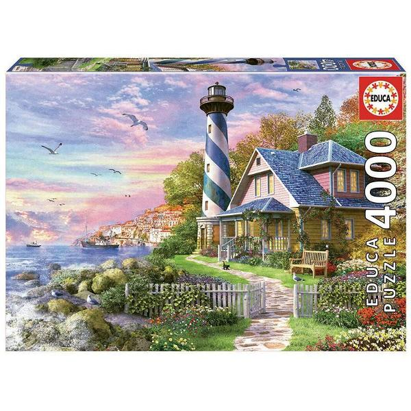 Puzzle Lighthouse at Rock BayPuzzle 4000 piese Puzzle-ul asamblat are 136 x 96cm