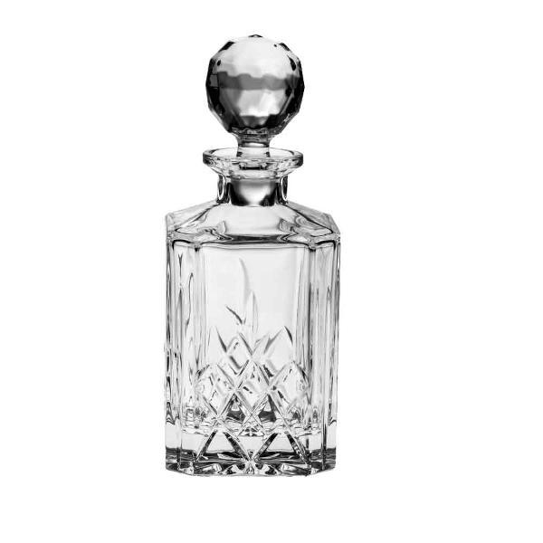 Carafa  decanter  decantor model Brixton din Cristal de Bohemia cu 24 PbO Volum sticla 800 ml