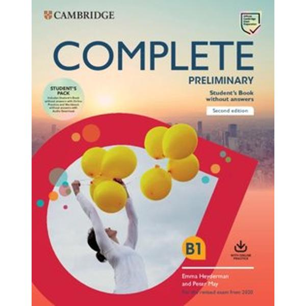 Complete Preliminary 2nd edition is the most thorough preparation for the revised B1 PreliminaryComplete Students Book allows you to maximise students performance with the Complete approach to language development and exam training It creates a stimulating learning environment with eye-catching images easy-to-navigate units and fun topics Students are able to build confidence through our unique understanding of the exam and insights from previous candidate performance The