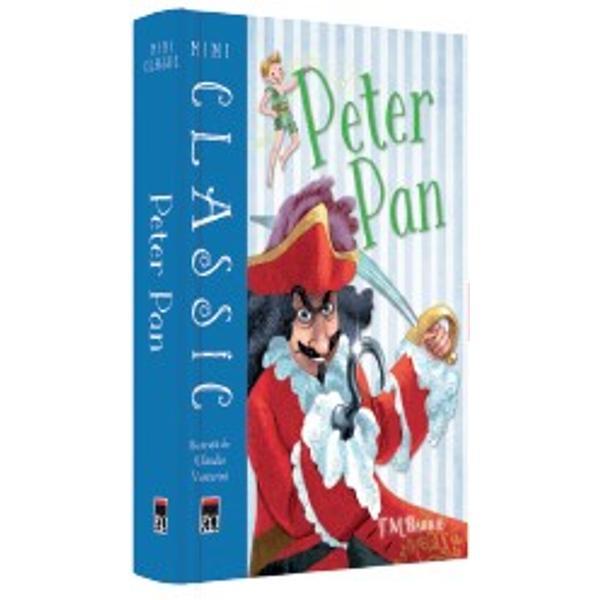 Într-o noapte de iarn&259; Peter Pan intr&259; în zbor pe fereastra camerei copiilor familiei Darling ducându-i pe ace&351;tia în misterioasa &351;i magica &538;ar&259; de Nic&259;ieri Acolo un b&259;iat care nu cre&351;te niciodat&259; îi poart&259; într-o serie de aventuri incitante Aceast&259; carte cuprinde întreaga poveste înso&539;it&259; de note utile &351;i de încânt&259;toarele ilustra&539;ii ale