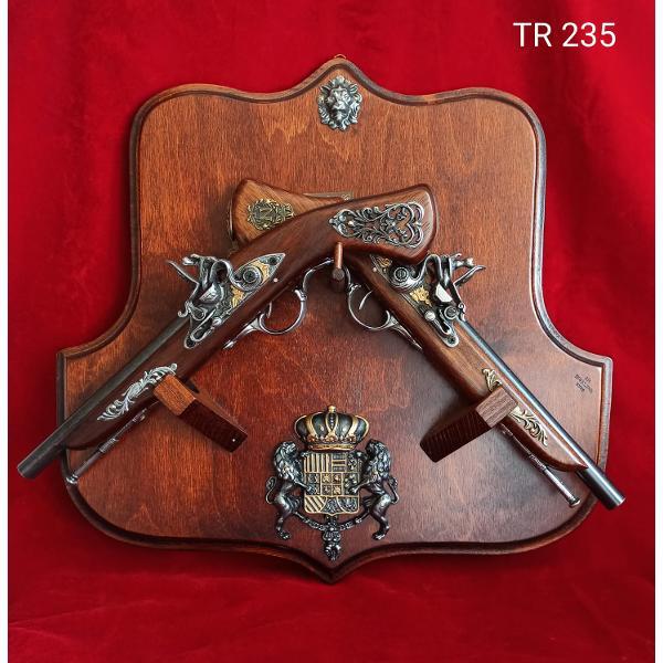 Trofeu 2 pistoale 44x45cm TR235