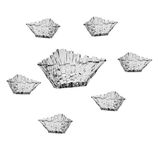 Set 61 boluri Citadella din Cristal de BohemiaSetul contine– 1 bucata bol de 23 cm– 6 bucati boluri de 16cmFabricat in CehiaImpachetare in cutie de cadou albastru marin inscriptionata Bohemia Cristal