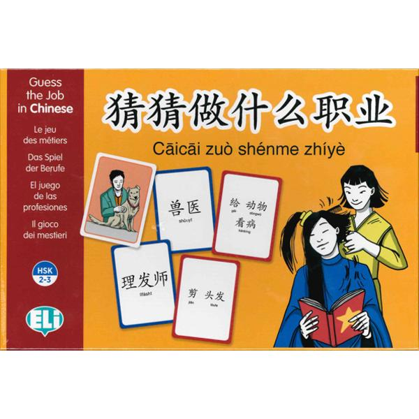 Learn all about 40 different jobs with this entertaining and original gameThree packs of cards with lively and colourful illustrations offer clear and concise phrases describing each job and the name of the job In the first pack you can find the illustration of the jobin the second one the name and in the third one its descriptionA comprehensive Instruction Booklet complete with suggestions for language exercises games and