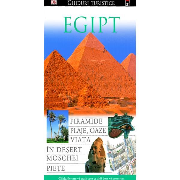 Cu fotografii extraordinare  cu ilustratii si planuri de o calitateireprosabila acest ghid va calauzeste pasii intr-o excursie fascinantaprin Egipt - Cairo piramidele de la Giseh complexele de monumente dela Luxor Karnak sau ABN Simbel mormintele din valea regilor si din ceaa reginelor de la coasta Marii Rosii in delta Nilului sau in oazeledin Desertul Vestic Istoria de ieri si de azi a Egiptului ampleinformatii