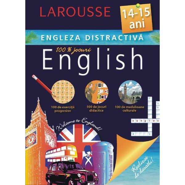 Cartea este conceputa de specialistii Larousse pentru copiii de 14-15 ani care studiaza limba englezaContine exercitii progresive jocuri didactice medalioane culturale· Recapitularea unor notiuni gramaticale esentiale· Exercitii adaptate in vederea aplicarii cunostintelor · Jocuri