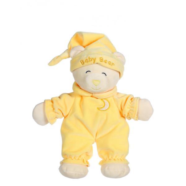 Un ursulet teribil de somnoros imbracat intr-o pijama frumoasa gata sa mearga la culcare Aceasta jucarie moale de 24 cm pufoasa si foarte moale aduce tandrete copilului tau atunci cand are nevoie de imbratisari peste noapteAtentie este o jucarie lipicioasa imediat se lipeste de sufletul tau Jucaria din plus Baby Ursulet este dedicata celor care adora imbratisarileJucaria din plus Baby Ursulet 24 cm este disponibila intr-o mare varietate de culori asa ca