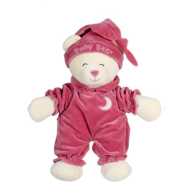 Un ursulet teribil de somnoros imbracat intr-o pijama frumoasa gata sa mearga la culcare Aceasta jucarie moale de 24 cm pufoasa si foarte moale aduce tandrete copilului tau atunci cand are nevoie de imbratisari peste noapteAtentie este o jucarie lipicioasa imediat se lipeste de sufletul tau Jucaria din plus Baby Ursulet este dedicata celor care adora imbratisarileJucaria din plus Baby Ursulet 24 cm este disponibila intr-o mare varietate de culori asa ca daruieste acest