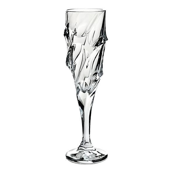 Set 6 pahare sampanie din cristal model Calypso 180mlSetul contine 6 pahareCutie clasica inscriptionata BohemiaPaharele au marcajul de autenticitate Bohemia