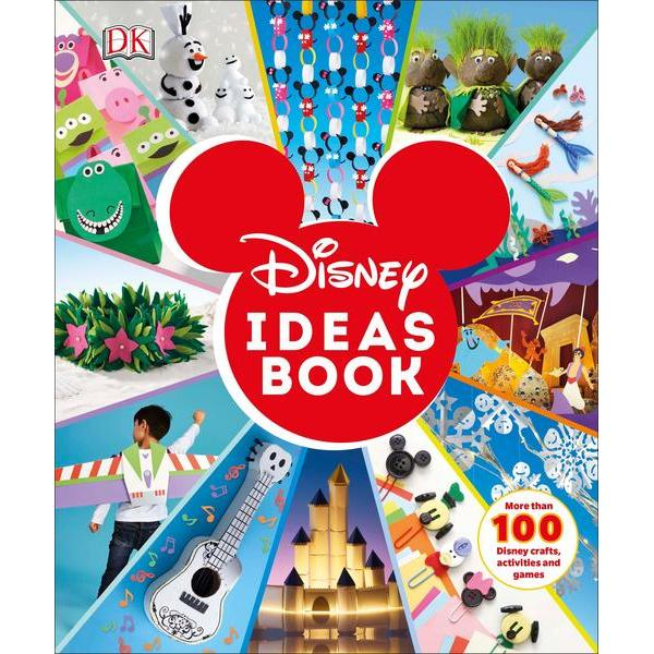 The perfect rainy-day gift for kids who love Disney and enjoy crafting Let their imaginations run wild with more than 100 enchanting Disney inspired arts and crafts party games puzzles papercraft and many more fun and practical activities With stunning photography and clear step-by-step instructions the Disney Ideas Book guides you through each exciting project from growing grass hair on Frozen trolls and creating The Lion King animal masks to crafting festive Mickey Mouse hanging