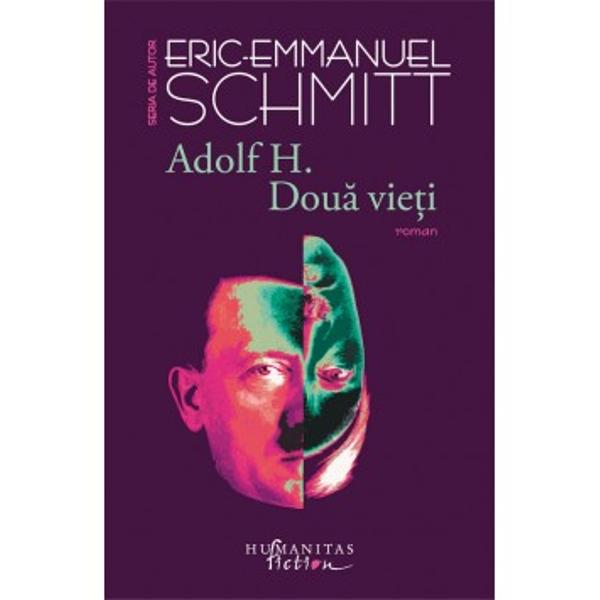 """Într-un roman pasionant exploziv construit cu rigurozitate Eric-Emmanuel Schmitt &537;i-l alege drept protagonist pe """"monstrul de evitat"""" &537;i construie&537;te dou&259; biografii paralele una fidel&259; realit&259;&539;ii romanul lui Hitler mort în 1945 în Berlinul distrus de bombardamente cealalt&259; pl&259;smuit&259; în întregime povestea lui Adolf H un pictor"""
