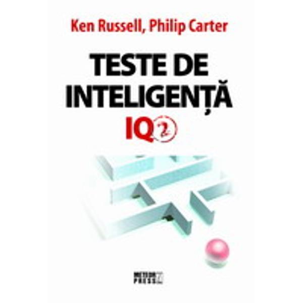 Teste de inteligenta IQ 2 va ofera 400 de intrebari inedite plus un indrumar a va evalua rezultatele Intrebarile din aceasta carte sunt tipice pentru genul si stilul de intrebari pe care este probabil sa le intalniti in cadrul testarilor reale si ele sunt concepute pentru a oferi exercitii practice valoaroase oricui va fi nevoit sa sustina acest tip de test in viitor Convingerea noastra este ca prin practicarea diferitelor genuri de teste IQ si prin deprinderea mintii cu tipuri diverse de
