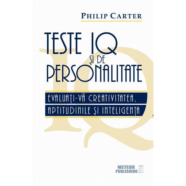 Testele IQ va evalueaza abilitaþile sau inteligenþa iar chestionarele de personalitate va ajuta sa va dezvaluiþi caracteristicile sau trasaturile personalitaþii Angajatorii le utilizeaza intr-o masura tot mai mare pe ambele ca parte din procedurile lor de selecþie deoarece pot sa indice compatibilitatea unui candidat cu un post specific Este cu siguranþa util si recomandabil sa exersaþi serios inainte de a susþine testele reale iar cartea de
