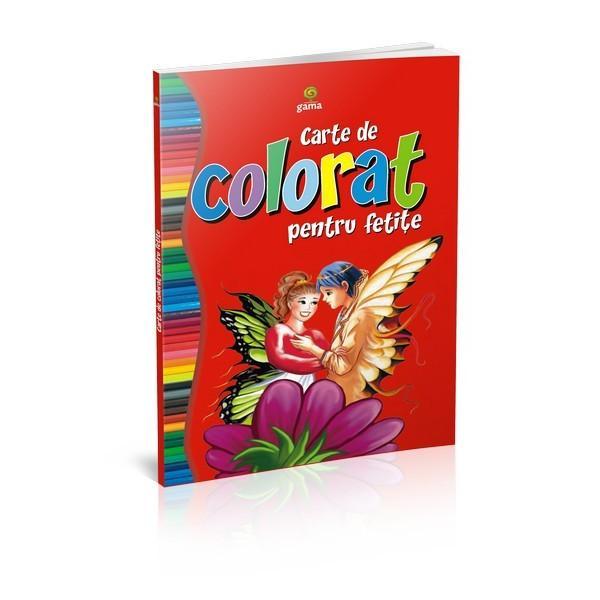 """""""Cartea de colorat pentru feti&539;e""""încurajeaz&259; copilul s&259; coloreze zâne prin&539;ese sau floriFormatul mare desenele cu contururi precise &537;i catrenele amuzante fac coloratul mult mai distractiv &537;i interesant"""